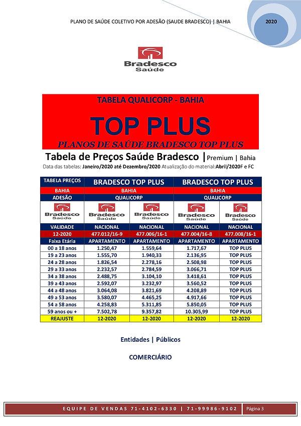 TABELAS_QUALICORP_PLANO_COLETIVO_POR_ADESAO - BRADESCO SAUDE TOP PLUS