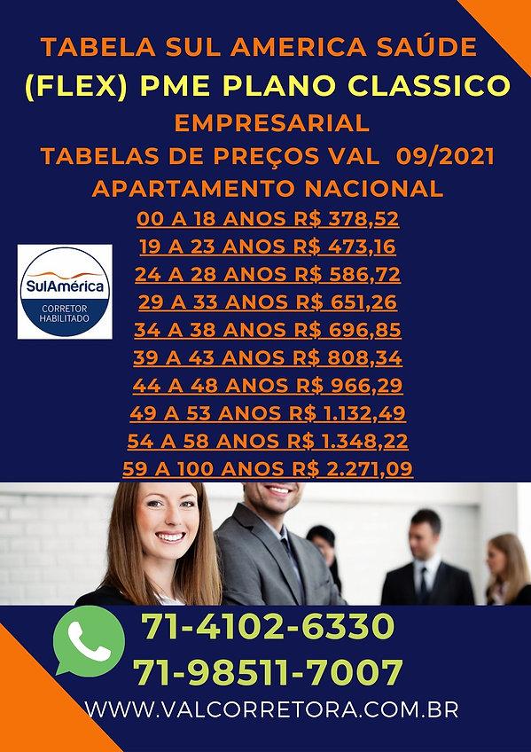 PME CLASSICO SUL AMERICA SAUDE PLANO EMPRESARIAL