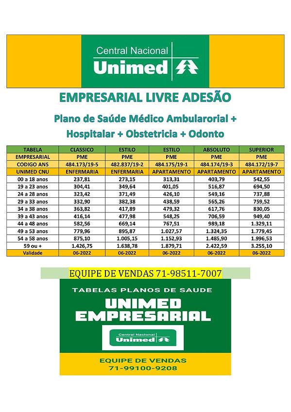 EMPRESARIAL - TABELAS PLANOS DE SAUDE PARA EMPRESAS