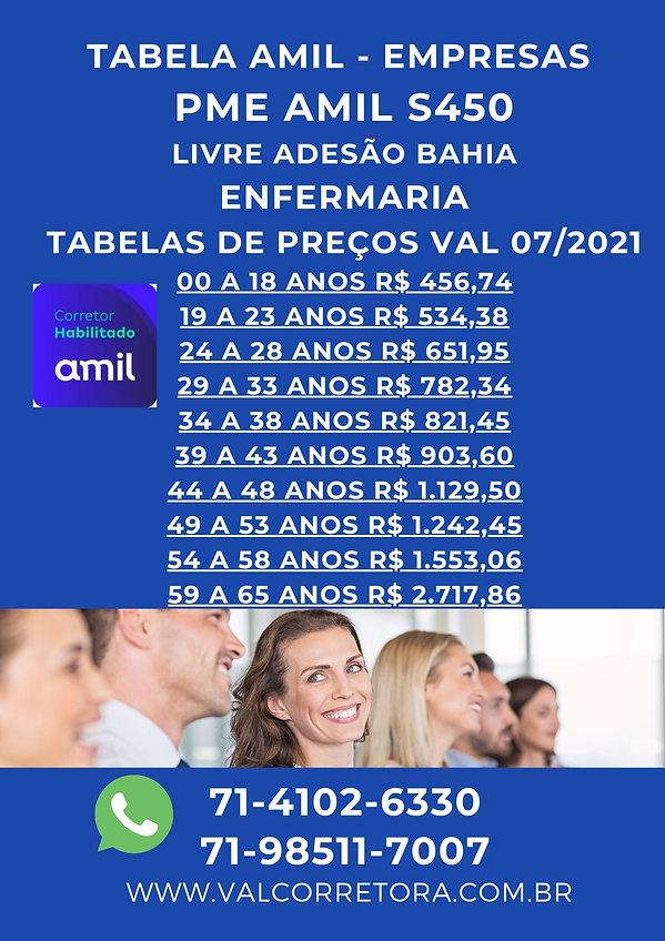 TABELAS PLANOS DE SAUDE AMIL