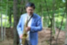 フィンランドの森のサックス演奏