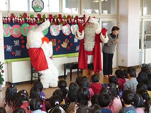 エコサンタの幼稚園訪問