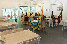 那須フィンランドの森のハンモックカフェ