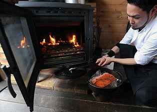 薪ストーブを使った料理教室