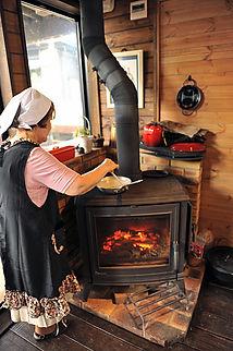 栃木県那須町で薪ストーブ料理教室