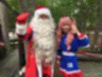 サンタクロースと妖精リントゥ