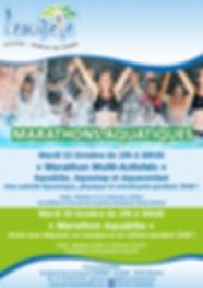 Affiche Marathon Aquatiques Toussaint 20