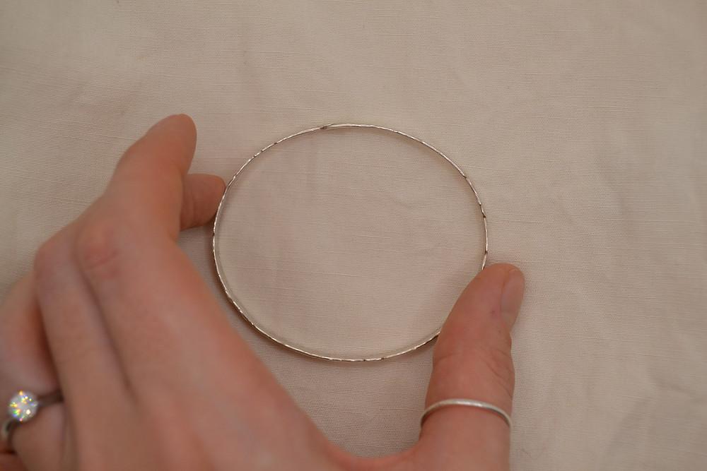 handmade silver bracelet bangle