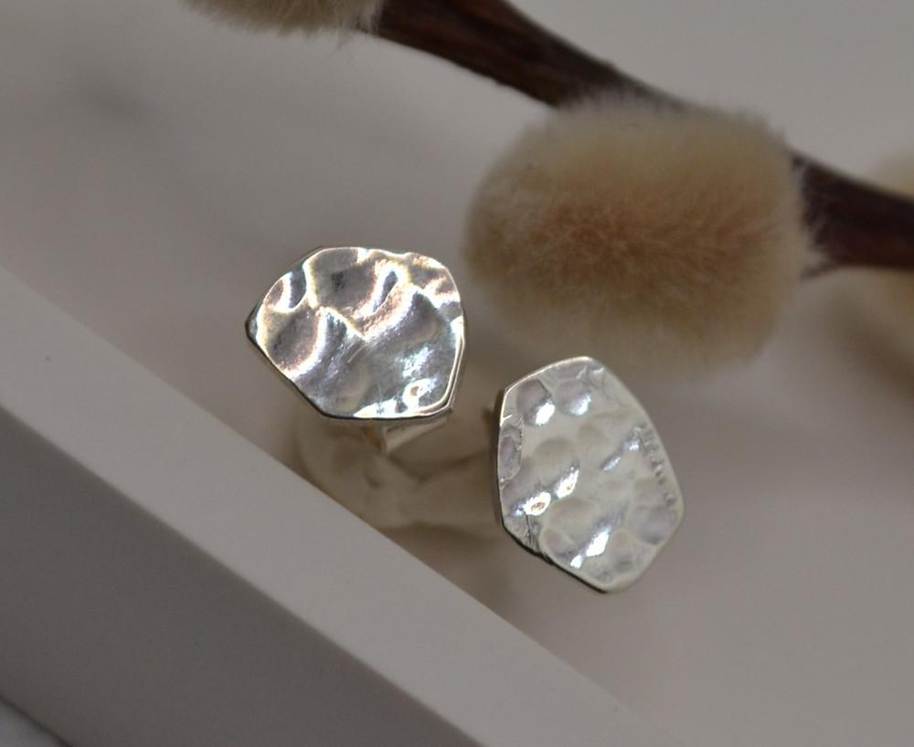 hypoallergenic handmade silver earrings eco small dainty eleanor jewellery design