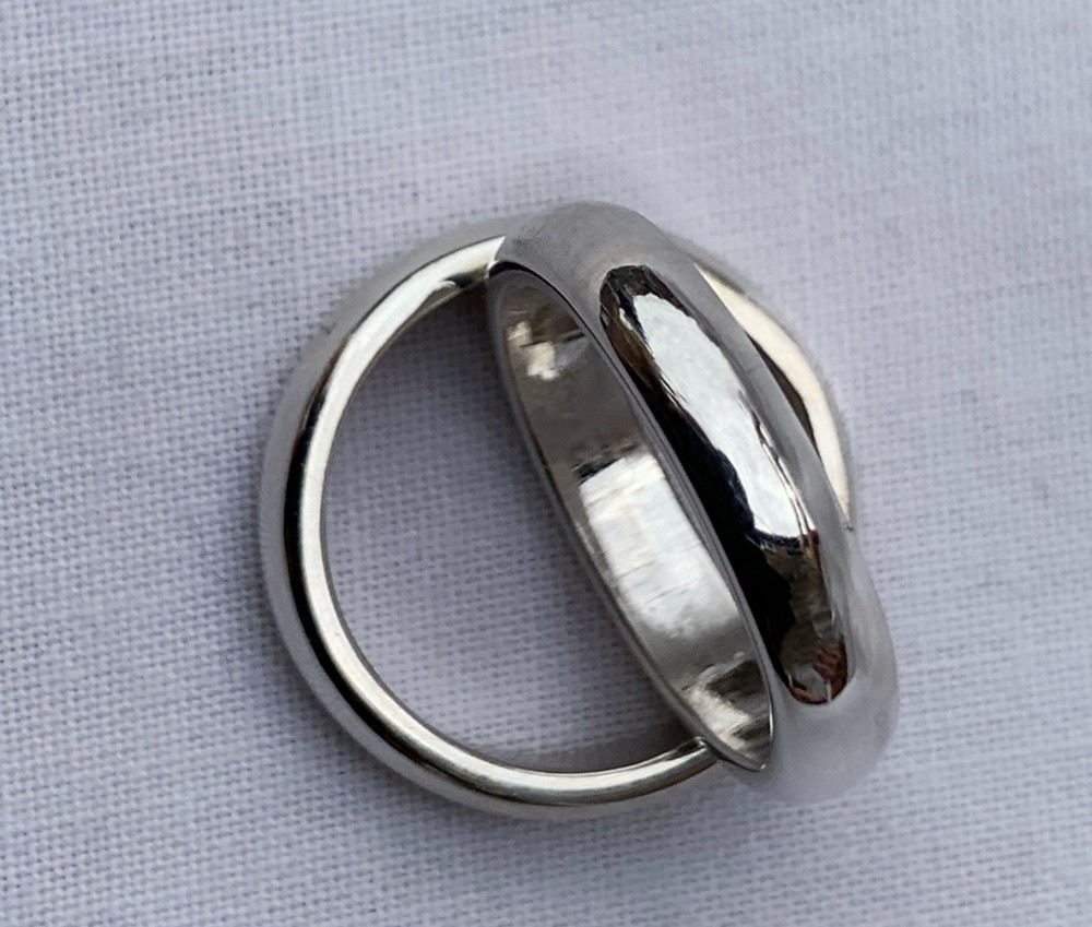 chunky eco recycled sterling silver ring handmade