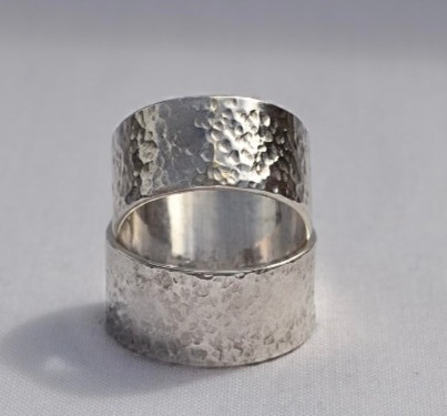 chunky eco recycled sterling silver 925 ring handmade