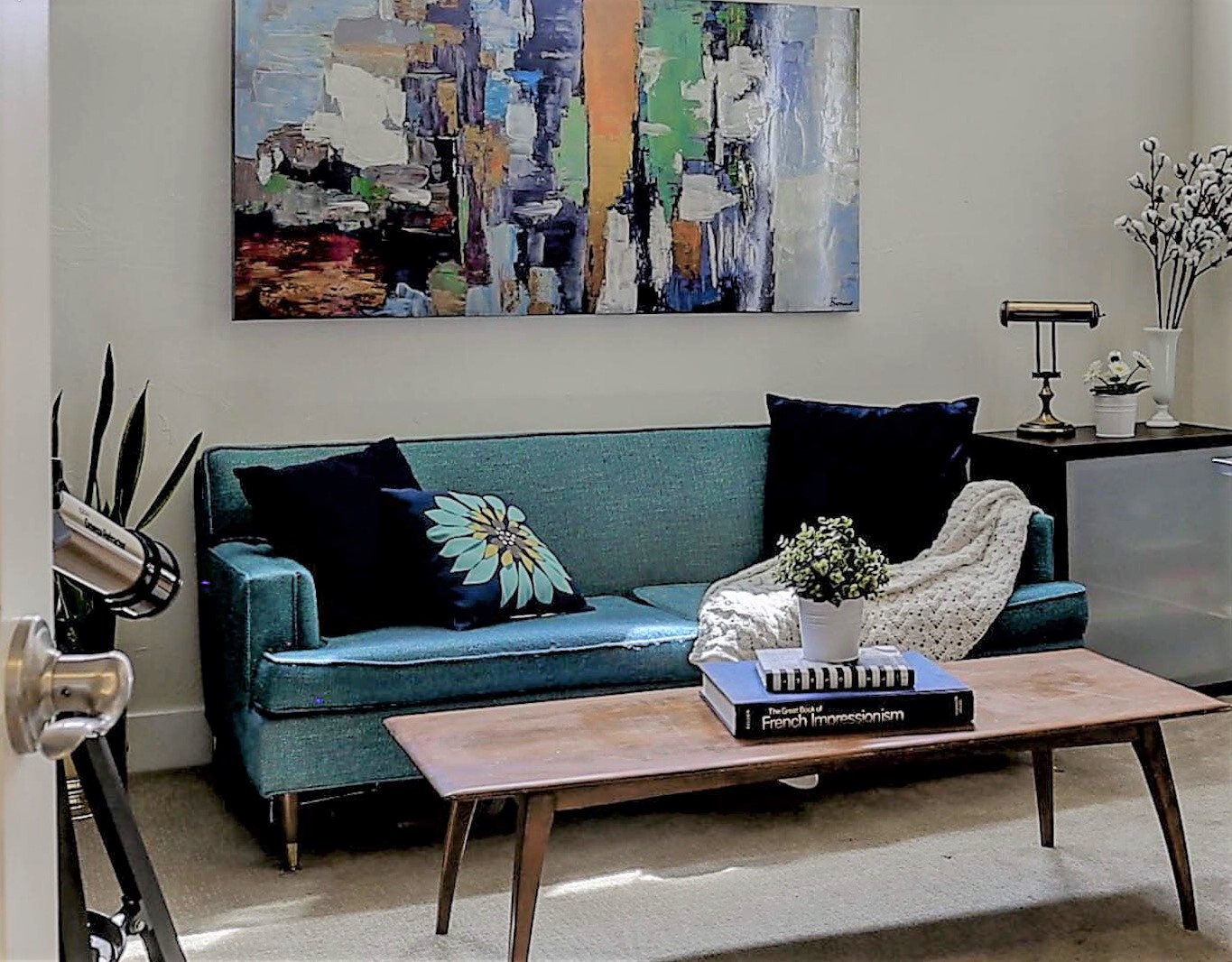 Navy and Teal Interior, Jodi Maturo