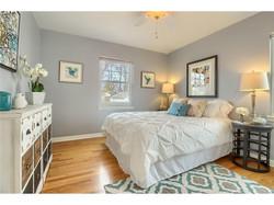 Staged calming bedroom, Jodi Maturo