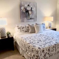 Lux monochromatic bedroom