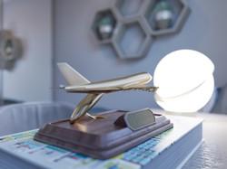 Detalhe avião noturno