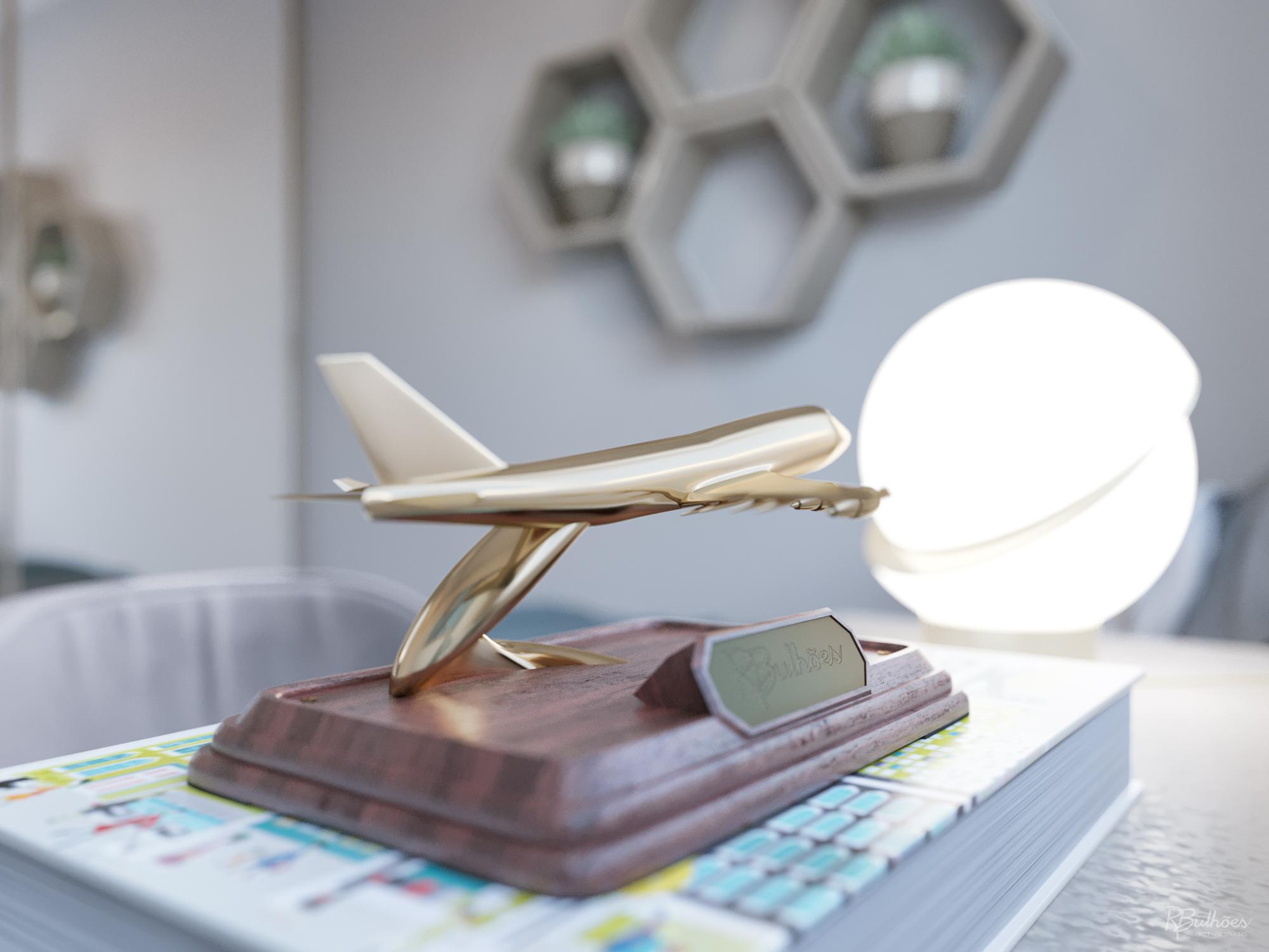 Detalhe avião diurno
