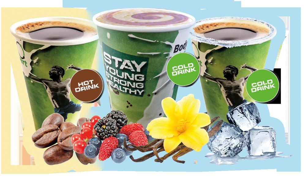 ENERGY-O-MAT: Der weltweit erste Getränkeautomat für Proteinshakes, Iced Coffee Shakes und heiße Kaffeevariationen