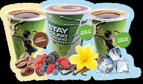 ENERGY-O-MAT | Der weltweit erste Getränkeautomat für Heiß- & Kaltgetränke | Innovatives 3-in-1-Hightech-System | Proteinautomat, Eiweißshake-Automat, Kaffeeautomat