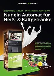 ENERGY-O-MAT | Der weltweit ersten Getränkeautomat für Fitness-Shakes + heiße Kaffee-Klassiker + Iced Coffee Shakes| Das MUST HAVE für Gym, Fitnessstudio, Sportschule, Freizeitanlage, (Sport)Hotel, stationärer Handel, Unternehmen & Co.