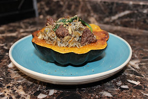 Acorn Squash with Wild Rice Stuffing (1)