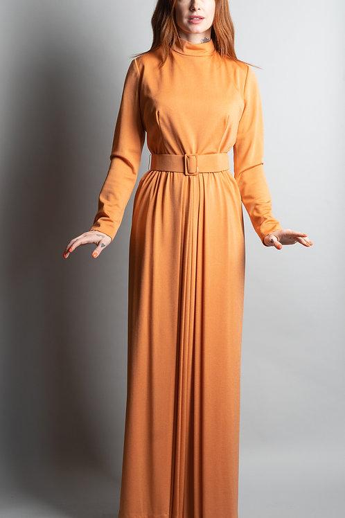 George Halley Crepe Dress with Belt