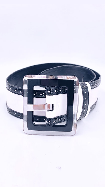 Black/White Carlisle with Lucite Buckle