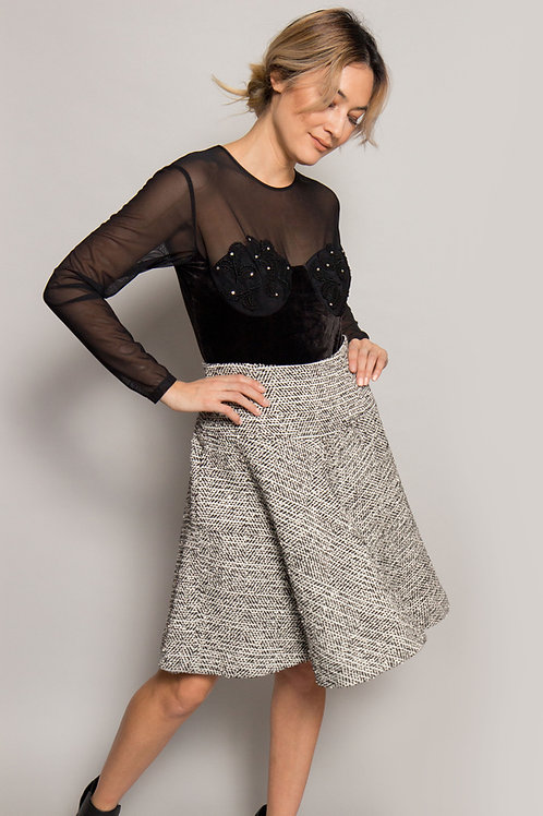 1980's Oscar De La Renta Tweed Skirt