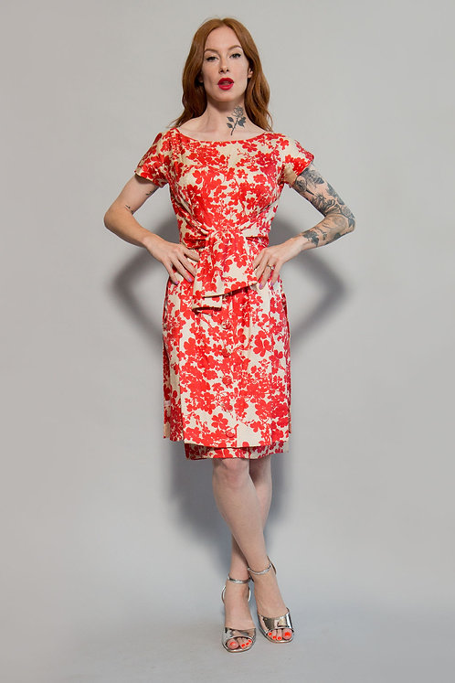 Bullocks Wilshire Silk Printed Dress