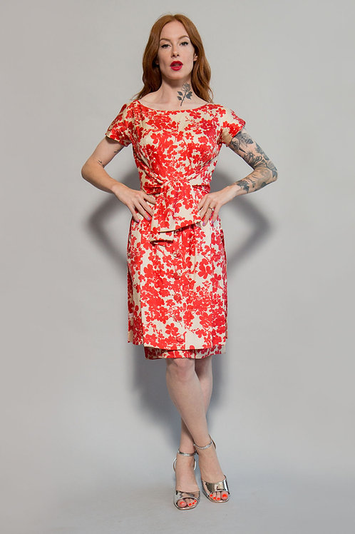 Bullocks Wilshire Silk Printed Dress
