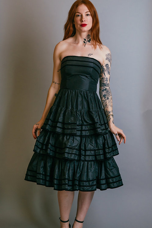 Yves Saint Laurent Strapless Cocktail Dress