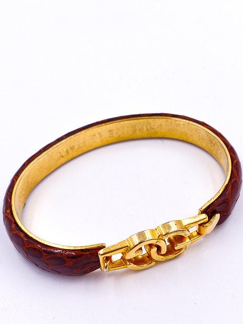 1970's GG  Snakeskin Bangle Bracelet