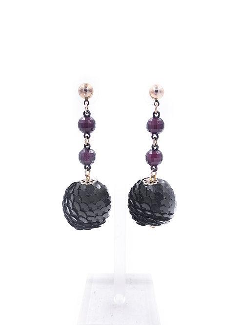 Sequin Ball Drop Earrings