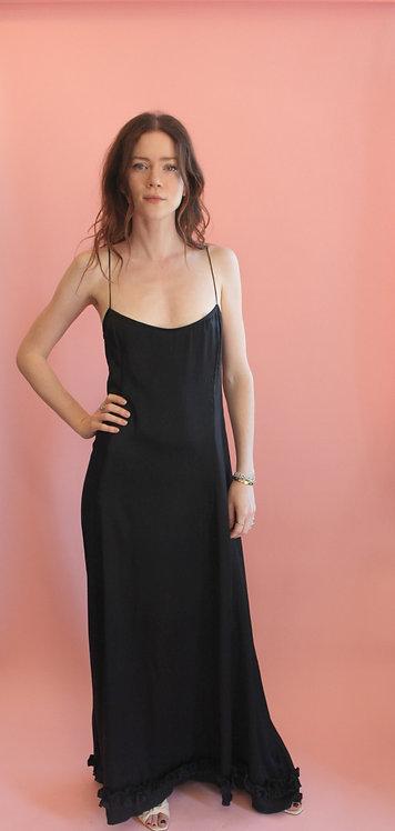 Jane Booke Baby Ruffle Silk Slip Dress