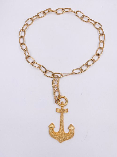 Vendome Gold Chain Link Anchor Belt
