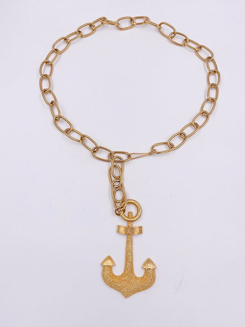 Vendome Gold Chain Link Anchor Belt