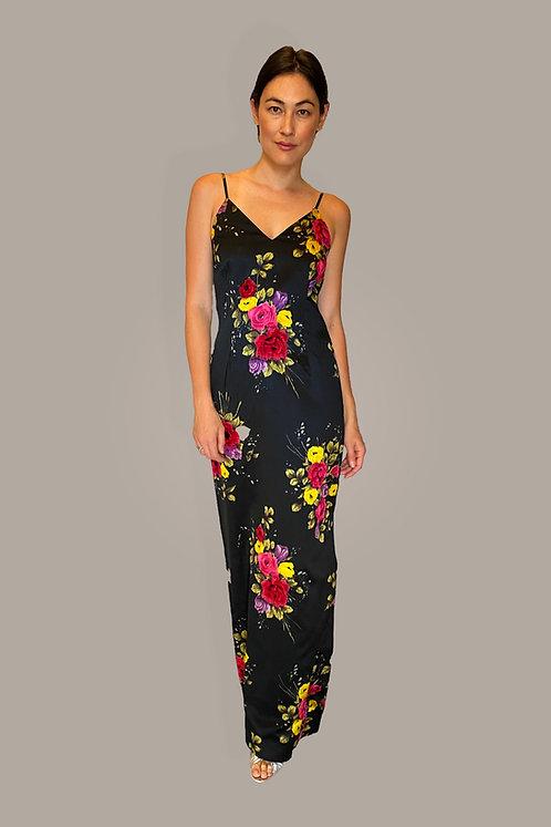 Adolfo Floral Slip Dress Front View