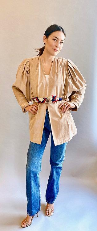 Ultra Suede Puff Shoulder Jacket