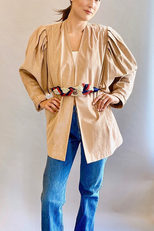 Ultra Suede Puff Shoulder Jacket