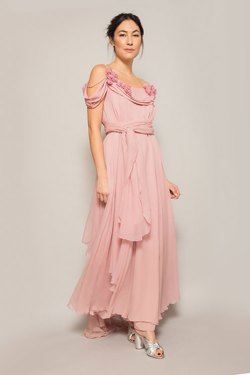 Custom Made Pink Chiffon Gown
