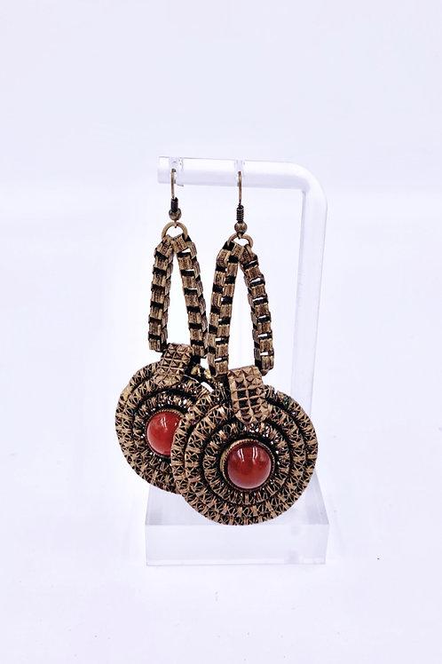 Tribal Drop Metal Earrings