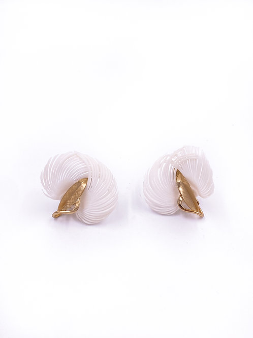 Napier Feather Clip-on Earrings