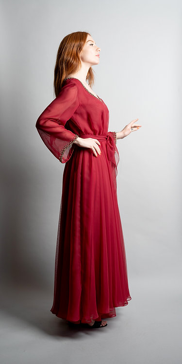 Victoria Royal Chiffon Dress