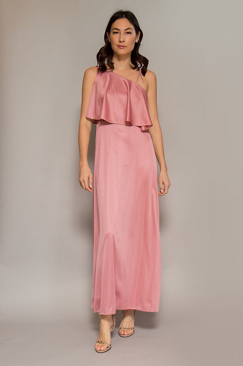 1970's Asymmetrical Jersey Gown