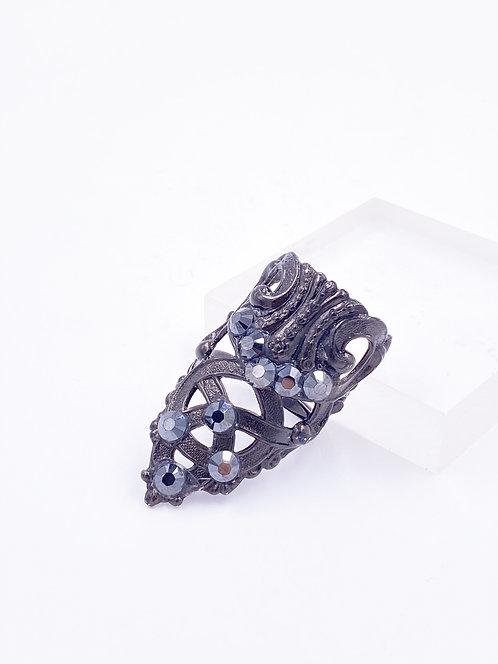 Elongated Crystal Ring
