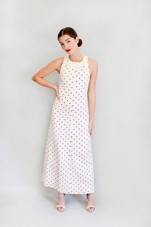 Courreges Haute Couture Polka Dot Dress