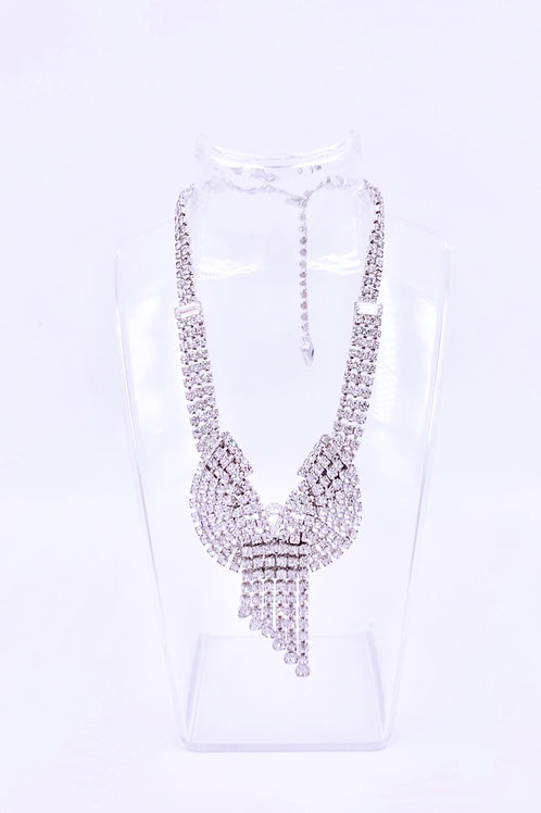 Weiss Crystal Ribbon Necklace
