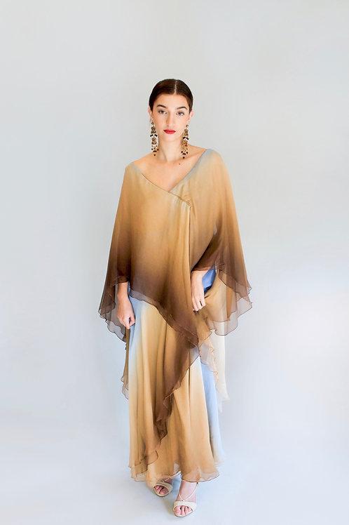 Michael Novarese Ombre Gown