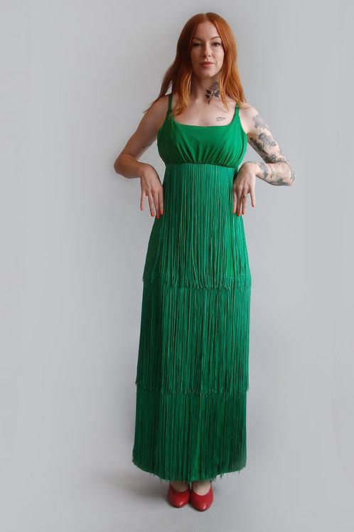 1960s Fringe Column Dress