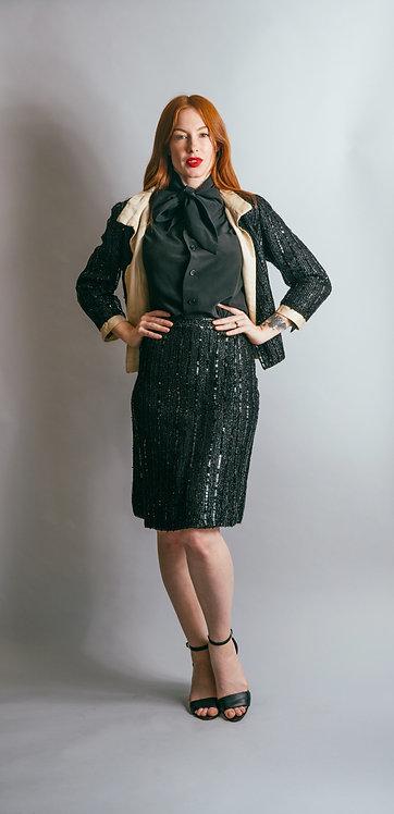 60's Sequin Jacket & Skirt Set