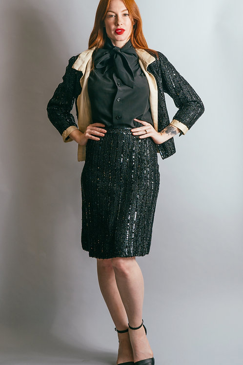60's Sequin Jacket & Skirt Set